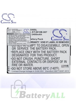 CS Battery for Acer BAT-H10 / KT.0010B.007 Battery PHO-ACX100SL