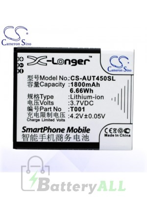 CS Battery for Asus 0B200-0128000 / T001 / Asus T45 / T45-T001 Battery PHO-AUT450SL