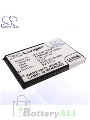 CS Battery for HTC 35H00106-01M / 35H00106-02M / BA S370 / DREA160 Battery PHO-HDE160SL