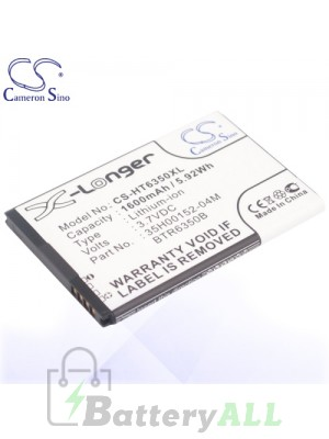 CS Battery for HTC 35H00152-04M / 35H00152-05M / BTR6350 / BTR6350B Battery PHO-HT6350XL