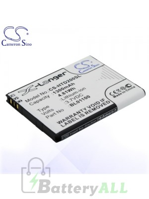 CS Battery for HTC BA S840 / BA S850 / BL01100 / HTC A320E Battery PHO-HTD200SL