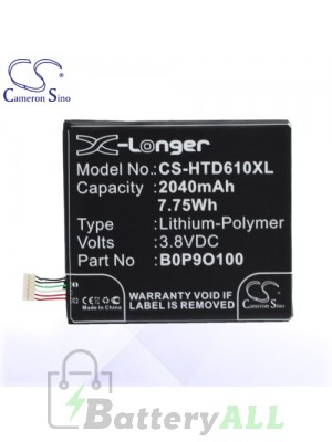 CS Battery for HTC 35H00222-00M / 35H00222-01M / B0P9O100 Battery PHO-HTD610XL