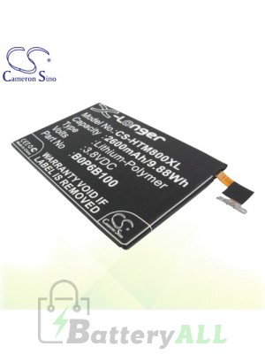 CS Battery for HTC One M8St / One M8t / One M8w / One Max / One W8 Battery PHO-HTM800XL