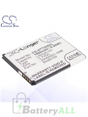 CS Battery for HTC 35H00201-04M / 35H00201-16M / BA S890 / BM60100 Battery PHO-HTT528XL