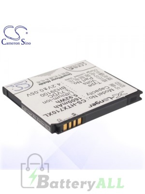 CS Battery for Google HTC 35H00167-03M / Google HTC G20 / HTC C110e Battery PHO-HTX710XL