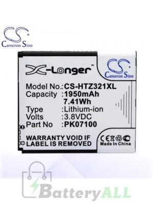 CS Battery for HTC 35H00189-00M / 35H00189-02M / HTI13UAA / PK07100 Battery PHO-HTZ321XL