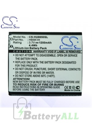 CS Battery for Huawei U8660 / U8666 / U8850 / Huawei vision Battery PHO-HU8650SL