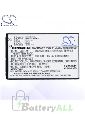 CS Battery for Huawei HBL6A / HBC100S / Huawei C2600 / C2605 Battery PHO-HUC100SL