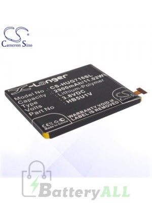 CS Battery for Huawei HB5U1V / Huawei Ascend D2 Battery PHO-HUG716SL