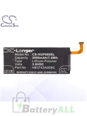 CS Battery for Huawei Ascend P6 / Huawei Ascend P6S / P7 Mini Battery PHO-HUP600SL