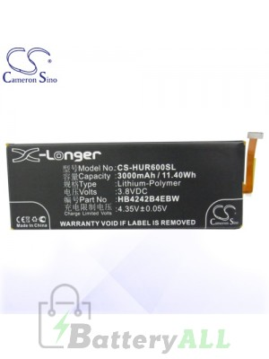 CS Battery for Huawei Mulan / Huawei Raven Battery PHO-HUR600SL