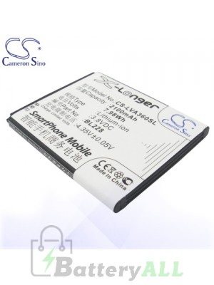 CS Battery for Lenovo BL228 / Lenovo A360T Battery PHO-LVA360SL