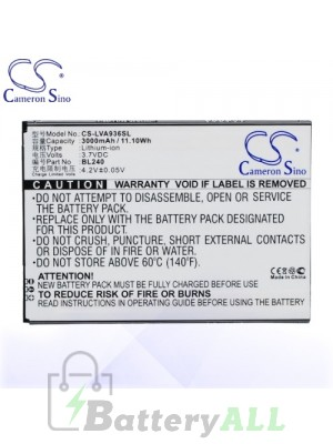 CS Battery for Lenovo BL240 / Lenovo A936 Battery PHO-LVA936SL