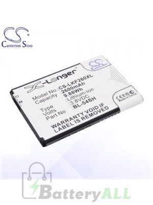CS Battery for LG BL-54SH / BL-54SG / EAC62018301 / EAC62018209 Battery PHO-LKF260XL