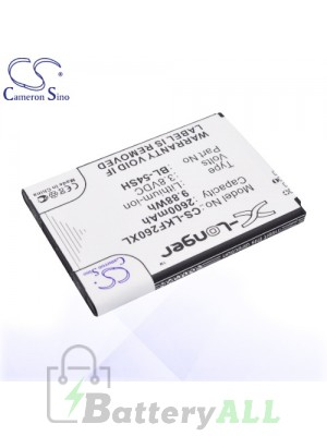 CS Battery for LG Bello 2 II / D331 / D373 / D405N / D410 / US780 Battery PHO-LKF260XL
