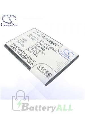 CS Battery for LG BL-53YH / EAC62378905 / LG AKA / D690 / D690N Battery PHO-LKF400XL