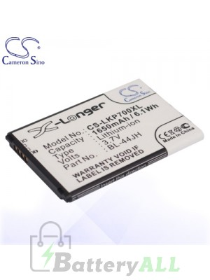 CS Battery for LG BL-44JH / EAC61839001 / EAC61839006 / LG AS730 Battery PHO-LKP700XL