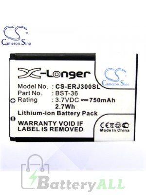 CS Battery for Sony Ericsson W200c / W200i / Z310 / Z310a Battery PHO-ERJ300SL