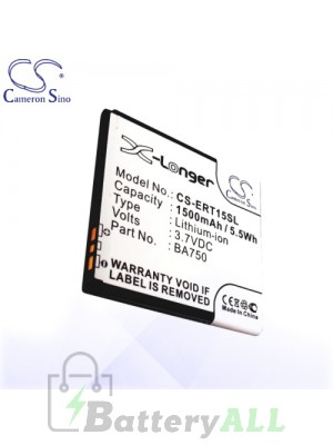 CS Battery for Sony Ericsson Xperia IS11S / Xperia P / Xperia Sola Battery PHO-ERT15SL