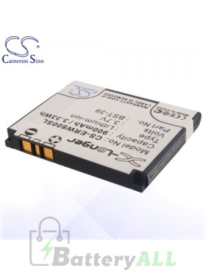 CS Battery for Sony Ericsson / Sony BST-39 / Sony Ericsson Zylo Battery PHO-ERW800SL