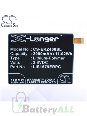 CS Battery for Sony Ericsson / Sony AGPB015-A001 / LIS1579ERPC Battery PHO-ERZ400SL