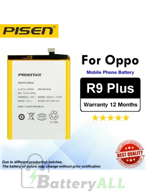 Original Pisen Battery For Oppo R9 Plus Battery