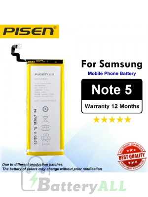Original Pisen Battery For Samsung Galaxy Note 5 Battery