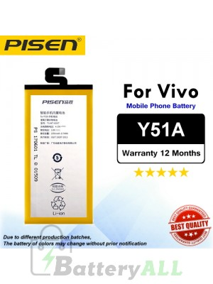 Original Pisen Battery For Vivo Y51A Battery