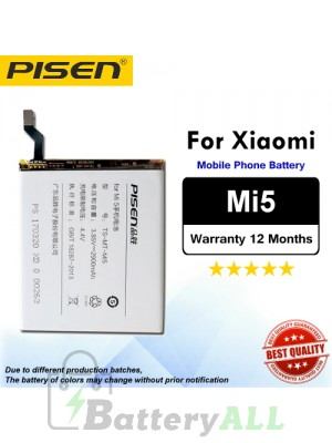 Original Pisen Battery For Xiaomi Mi5 Battery