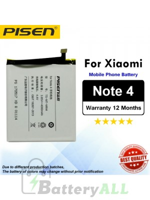 Original Pisen Battery For Xiaomi Redmi Note 4 Battery