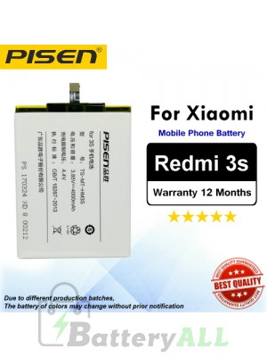 Original Pisen Battery For Xiaomi Redmi 3s Battery