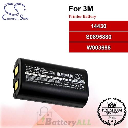 CS-DML260SL For 3M Printer Battery Model 14430 / S0895880 / W003688