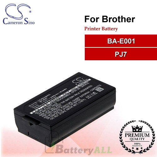 CS-PBA300SL For Brother Printer Battery Model BA-E001 / PJ7
