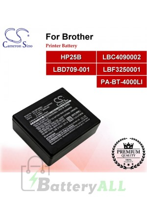 CS-PBT950SL For Brother Printer Battery Model HP25B / LBC4090002 / LBD709-001 / LBF3250001 / PA-BT-4000LI