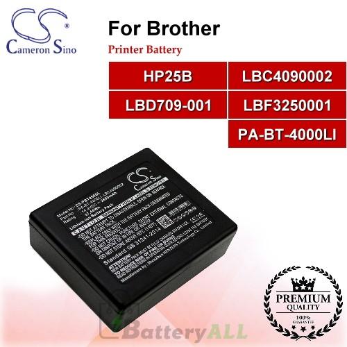 CS-PBT950SL For Brother Printer Battery Model HP25B / LBC4090002 / LBD709-001 / LBF3250001 / PA-BT-4000LI