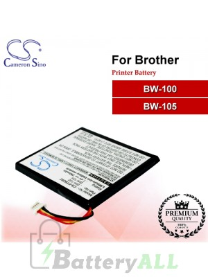 CS-PTB202 For Brother Printer Battery Model BW-100 / BW-105