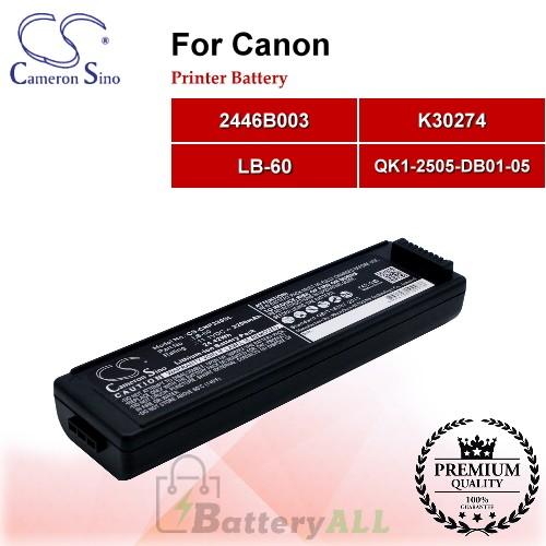 CS-CNP320SL For Canon Printer Battery Model 2446B003 / K30274 / LB-60 / QK1-2505-DB01-05