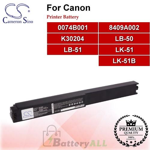 CS-LB51 For Canon Printer Battery Model 0074B001 / 8409A002 / K30204 / LB-50 / LB-51 / LK-51 / LK-51B