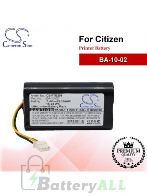 CS-PTB201 For Citizen Printer Battery Model BA-10-02