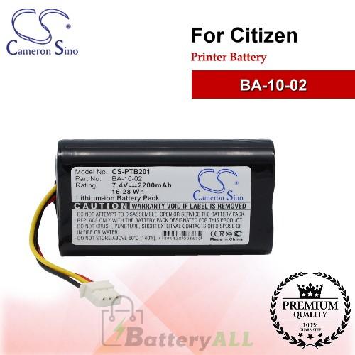 CS-PTB201 For Citizen Printer Battery Model BA-10-02