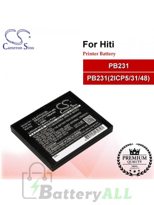 CS-HTP231SL For HiTi Printer Battery Model PB231 / PB231(2ICP5/31/48)