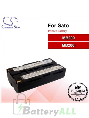 CS-VZ22SL For SATO Printer Battery Fit Model MB200 / MB200i