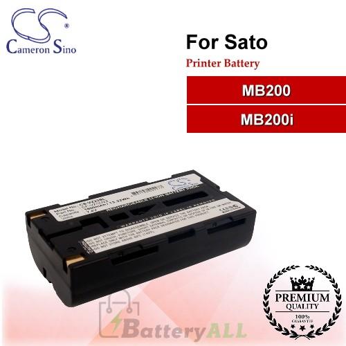 CS-VZ22SL For SATO Printer Battery Fit Model MB200 / MB200i