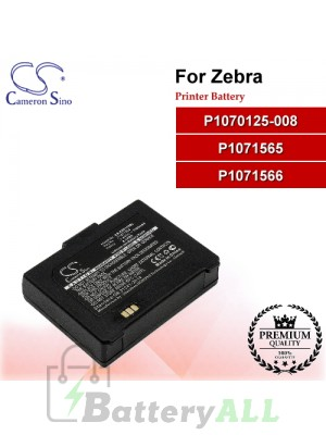CS-ZBR110BL For Zebra Printer Battery Model P1070125-008 / P1071565 / P1071566