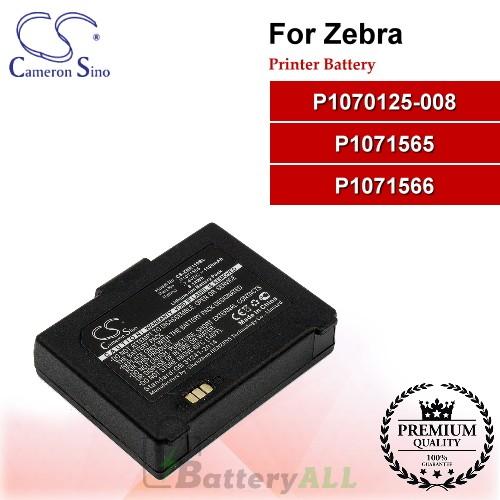 CS-ZBR110BL For Zebra Printer Battery Model P1070125-008 / P1071565 / P1071566