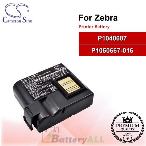 CS-ZQN420BL For Zebra Printer Battery Model P1040687 / P1050667-016