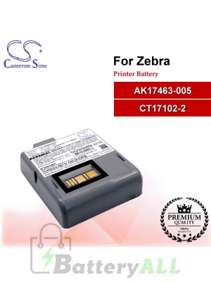 CS-ZRW420BL For Zebra Printer Battery Model AK17463-005 / CT17102-2