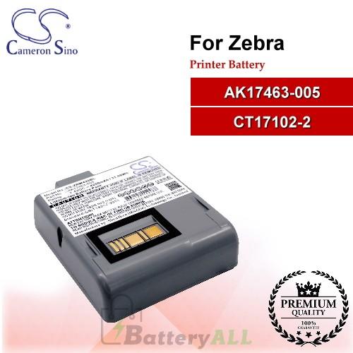 CS-ZRW420BL For Zebra Printer Battery Model AK17463-005 / CT17102-2
