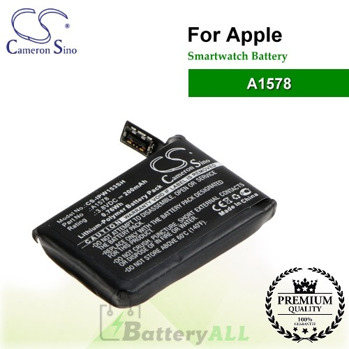 CS-IPW153SH For Apple Smartwatch Battery Model A1578