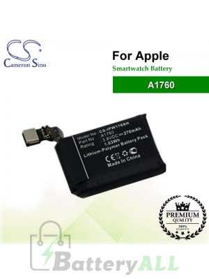 CS-IPW176SH For Apple Smartwatch Battery Model A1760